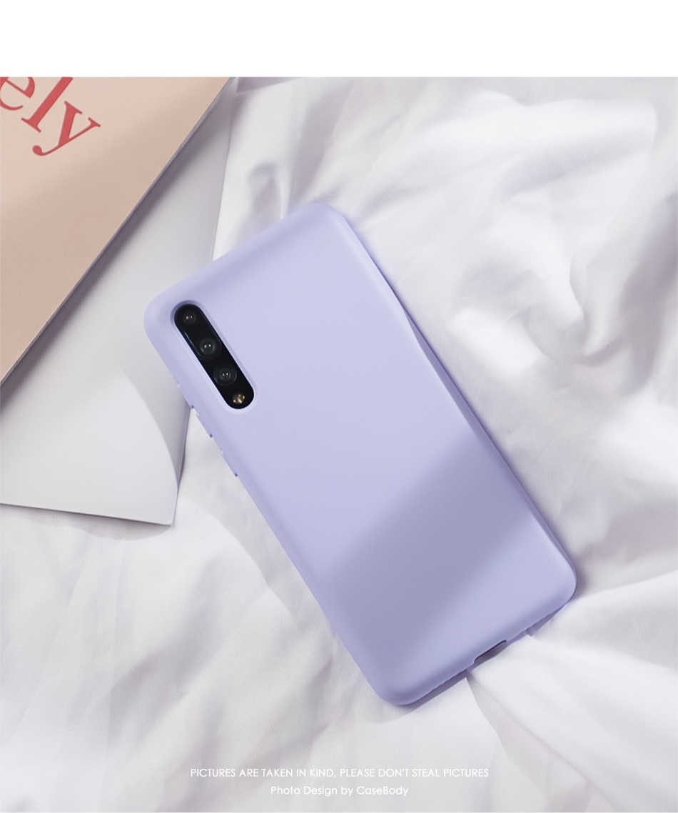 BETHEBEY TPU Soft Silicone Case for Huawei Y5 Y6 Y7 Y9 Pro 2019 2018 Nova 4 3 2S 2 Plus Cute Candy Color Case cover Phone