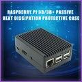 Raspberry Pi 3 Model B Алюминий сплав чехол пассивное охлаждение Пластиковая Задняя крышка задняя крышка металлический корпус тепловыделения для ...