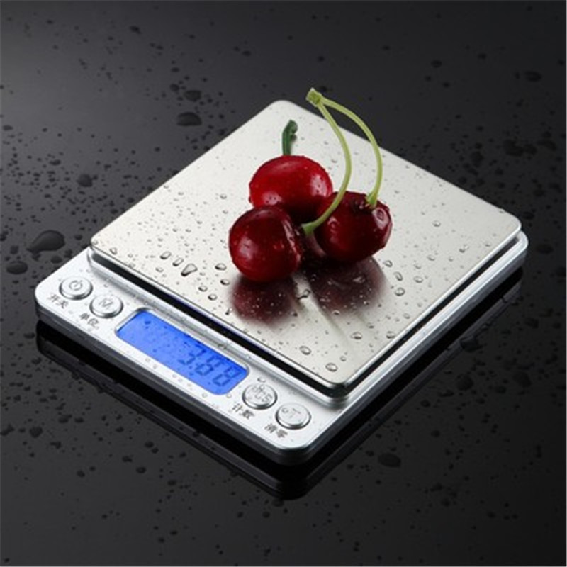 Household Kitchen Scale Coffee Scales Electronic Food Diet Scales Measuring Tool 3kg Slim LCD Digital Electronic Weighing Scale