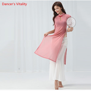 Image 5 - Belly Dance Cheongsam Training Clothes New Cheongsam Costumes Suit Modern Dance Clothes