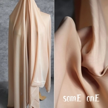 Silk Satin Fabric Light yellow DIY Cheongsam Silk Scarf Pajamas Shirt Gift Box Packing Dress Designer Fabric 50*145cm