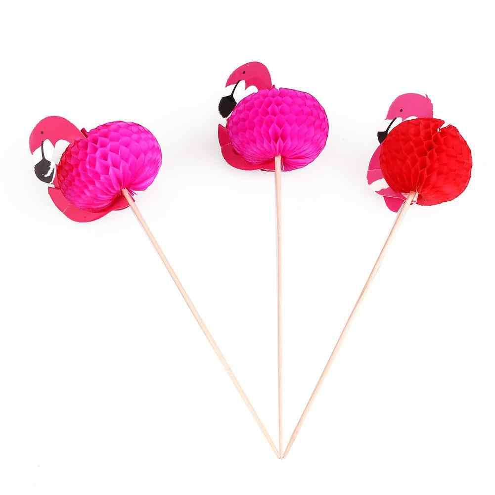 Drapeau rouge cure-dents flamant cure-dents cure-dents créatif fruits bois + papier désherbage fête barre pics nourriture jetable
