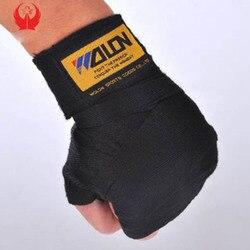 2 uds./ancho del rollo 5cm longitud 2,5 M algodón deportes Correa vendaje para boxeo Sanda Muay Thai MMA Taekwondo guantes de mano