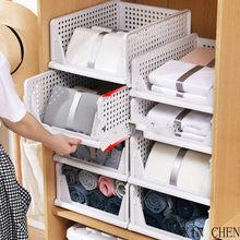 Armário dobrável organizador de roupas em camadas partição armazenamento gaveta guarda-roupa organizador guarda-roupa prateleira armário rack de armazenamento