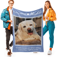 Personalized Blanket with Photo and Text Memorial Gifts in Loving Memory Blanket Custom Throw Blanket with Photo