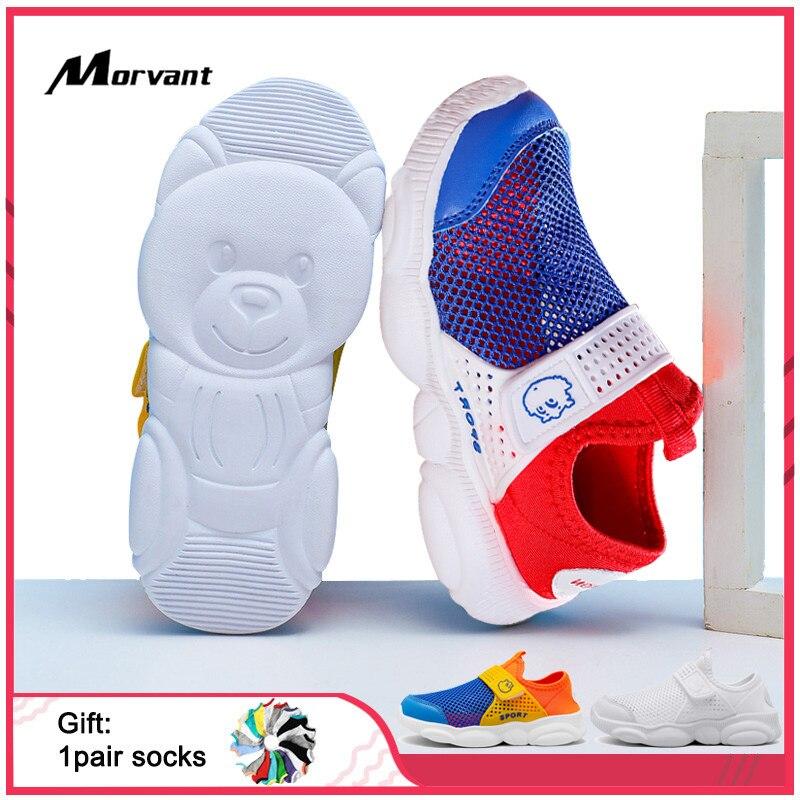 Kids Shoes Super Hot Bear Bottom Mesh Children Shoes Hollow Breathable Kids Sneakers Boy Girl Comfortable Shoe