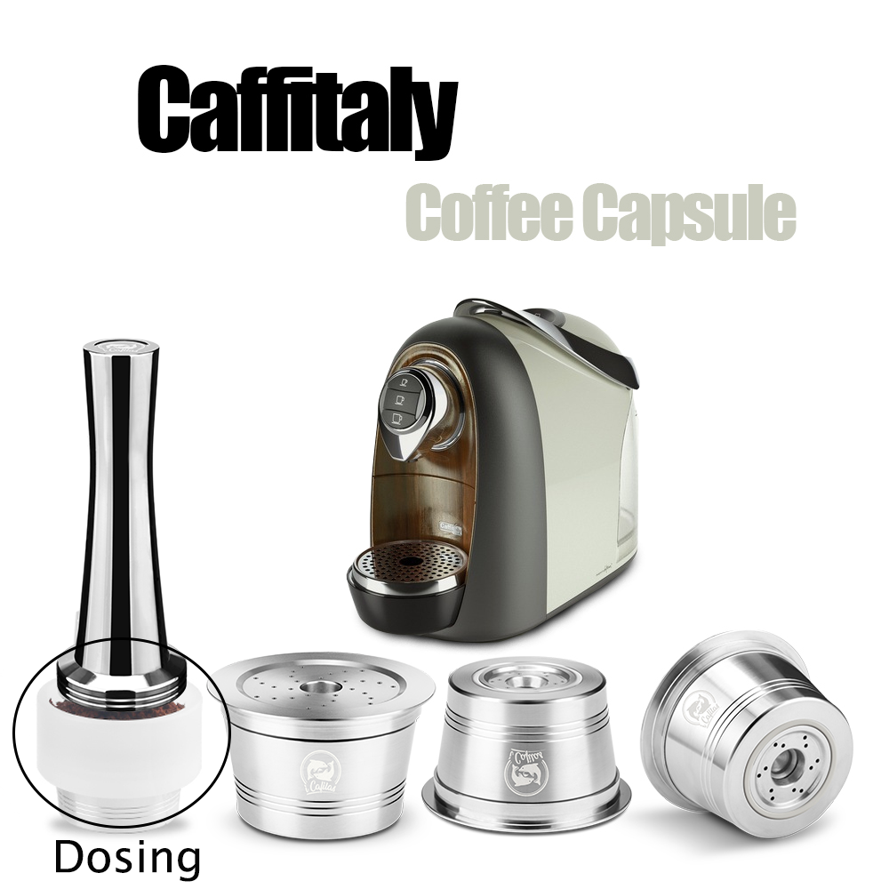 Reusable Coffee Capsule For Caffitaly Compact Coffee Filter Refillable Stainless Steel Pod Compatible Cafissimo & K-Fee Mahcine