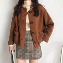 3 צבעים 2019 סתיו קוריאני סגנון מוצק צבע להנמיך צווארון knittd סוודרים נשים סוודרים נשים (X201)קרדיגנים