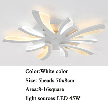 Led ceiling light for living room bedroom White/Black Simple Plafond led ceiling lamp home lighting fixtures AC90-260V 9