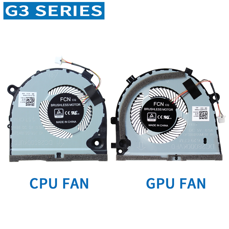 Novo orignal cpu gpu ventilador para dell g3 G3-3579 3779 g5 5587 15 5587 série cooler ventilador de refrigeração CN-0TJHF2 CN-0GWMFV