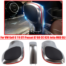 Automatic Gear Shift Knob Stick Lever Shifter For Volkswagen For VW Passat B7 ABS Leather Car Accessories