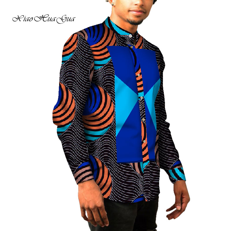 <font><b>African</b></font> <font><b>mens</b></font> clothes Long Sleeve <font><b>Mens</b></font> <font><b>Shirt</b></font> 6XL Slim Fit <font><b>Shirts</b></font> Dashiki <font><b>Men</b></font> <font><b>African</b></font> Print <font><b>Wax</b></font> Cotton <font><b>Mens</b></font> <font><b>Shirt</b></font> Casual wyn967 image