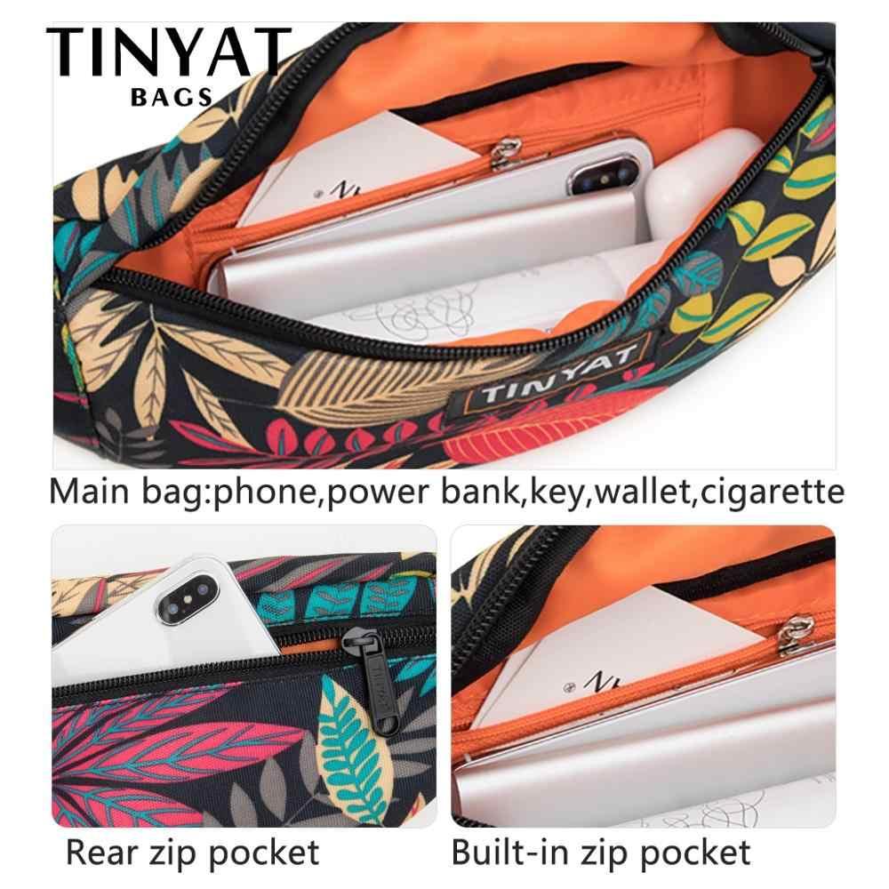 Tinyat Unisex Print Blad Taille Pack Tas Mannen Vrouwen Canvas Tas Riem Mode Ongedwongen Riem Pouch Vrouwelijke Reizen Banaan Zakken mannen Fanny