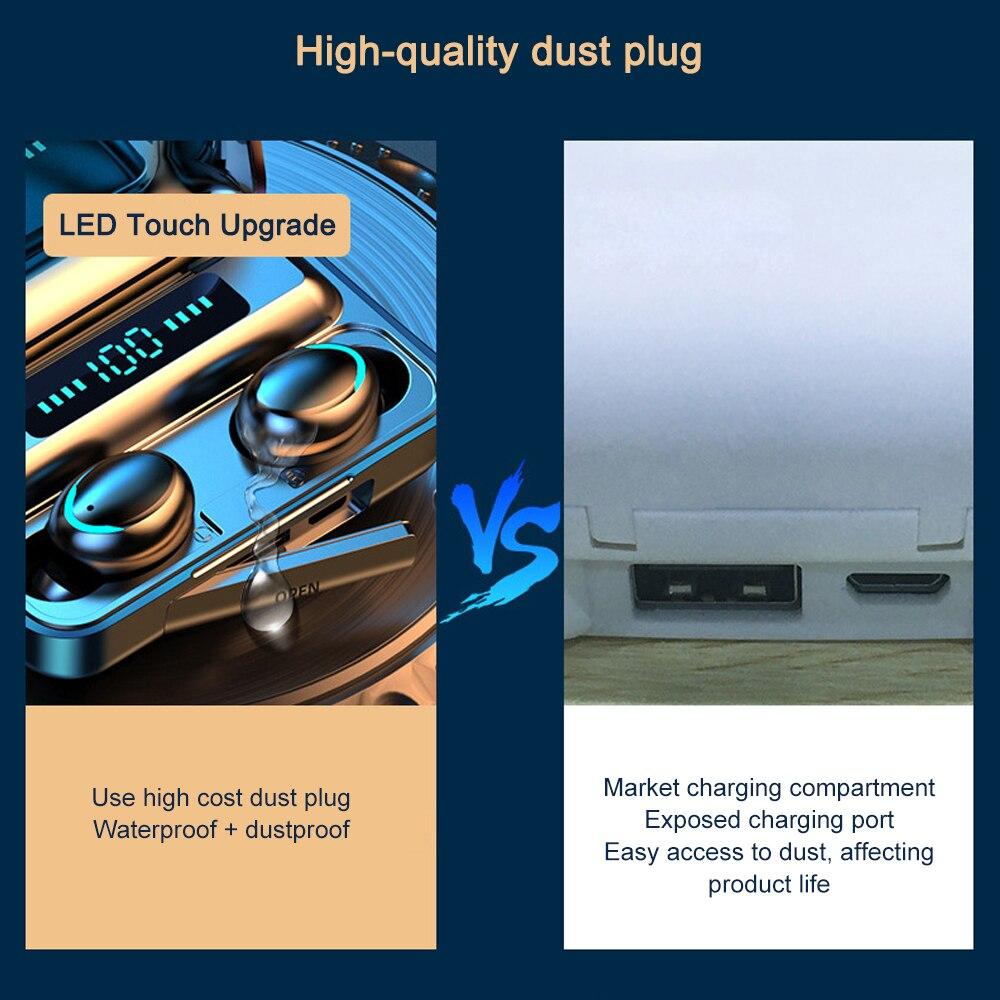 F9-5 TWS Écouteurs Bluetooth Sans Fil 5.0 écran LED étanche Airbuds 4