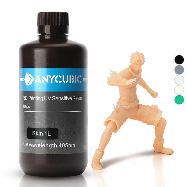 ANYCUBIC 3D drukarka żywica uniwersalny 405nm biały szary czarny szybkie utwardzanie SLA UV utwardzana żywica do druku 3D LCD jak Photon S