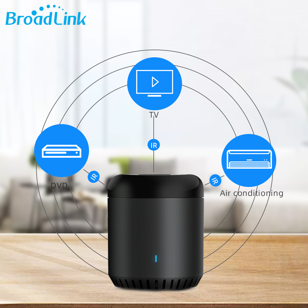 Broadlink RM Mini 3 Black Bean Motion WIFI Switch Intelligent IR Remote Controller Smart Home Automation Works With Google Home
