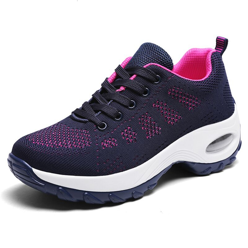 Women Sneakers Lightweight Thick Bottom Platform Shoes Breathable Mesh Female Trainers Damping Casual Shoes Woman Tenis Feminino