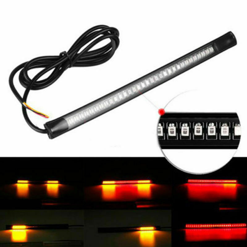 Car Turn Signal Light 48 LED Motorcycle Strip Tail Brake Stop Super Bright Running Universal