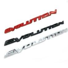 ABS пластик EVOLUTION 3D логотип, Автомобильный задний бампер, багажник, Английский алфавит, буквы, эмблема, наклейки, наклейки, автомобильные аксе...