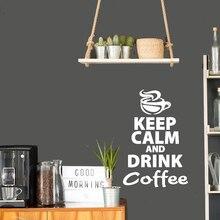Кофе стены стикеры виниловые наклейки на стены кухня наклейки английский цитата наклейки Главная декоративные ПВХ столовая магазин