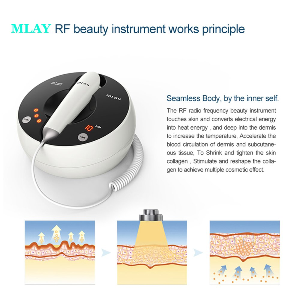 Home Use RF Skin Rejuvenation Whitening Machine Face Lifting Tender Galvanic Spa Anti Wrinkle Micro Current Beauty Device