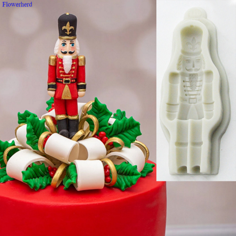 Random Color Christmas Silicone Fondant Cake Mold Cake Decorating Tool finessci Santa Claus Fondant Mold Santa Claus DIY Cake Bakeware