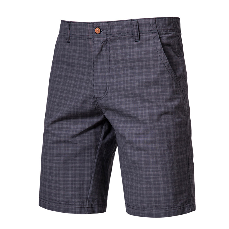 England Style Gentle Men Plaid Shorts Mens Fashion Short Pants 2020 Summer Knee Length Chinos Shorts Vintage Casual Men Shorts