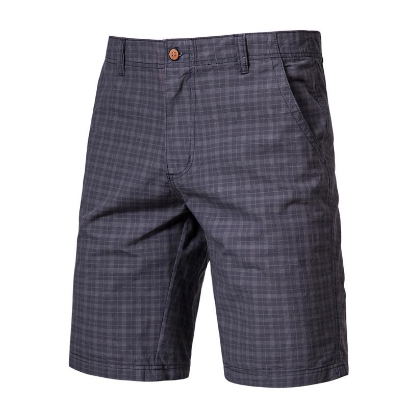 England Style Gentle Men Plaid Shorts Mens Fashion Short Pants 2020 Summer Knee Length Chinos Shorts Vintage Casual Men Shorts