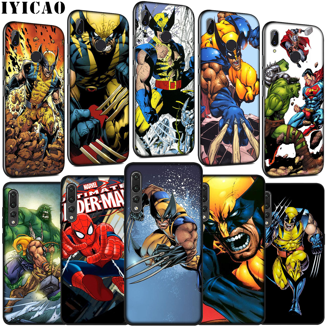 IYICAO Thor Odinson Marvel Comics Wolverine Soft Case for Huawei P30 P20 Pro P10 P9 Lite Mini 2017 2016 P Smart Z Plus 2019 image
