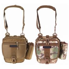 цена на Multifunctional Camouflage Fishing Bag Messenger Waist Bag Waterproof Fishing Rod Lure Reel Line Tackle Storage Bags