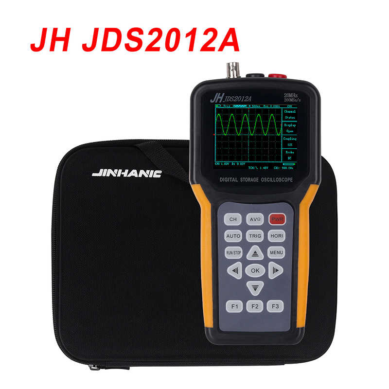 Draagbare oscilloscoop JDS2012A 20MHz Bandbreedte 2 channel Handheld Digitale Oscilloscoop 200MSa/s Sample Rate