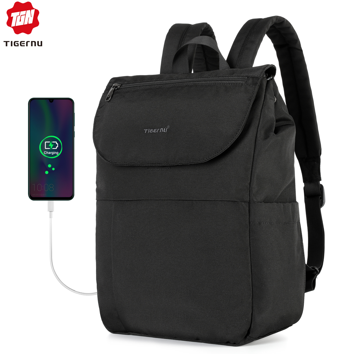 2020 Tigernu Fashion New Arrival Antifouling Waterproof RFID Anti Theft Backpacks Men Women Large Capacity School Backpack Male