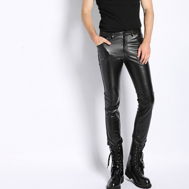 Plus Size 6XL Mens Pantalon Autumn 2020 New Fashion Real Leather Trousers Motorcycle Casual Slim Fleece Lining Warm Pants Male 3