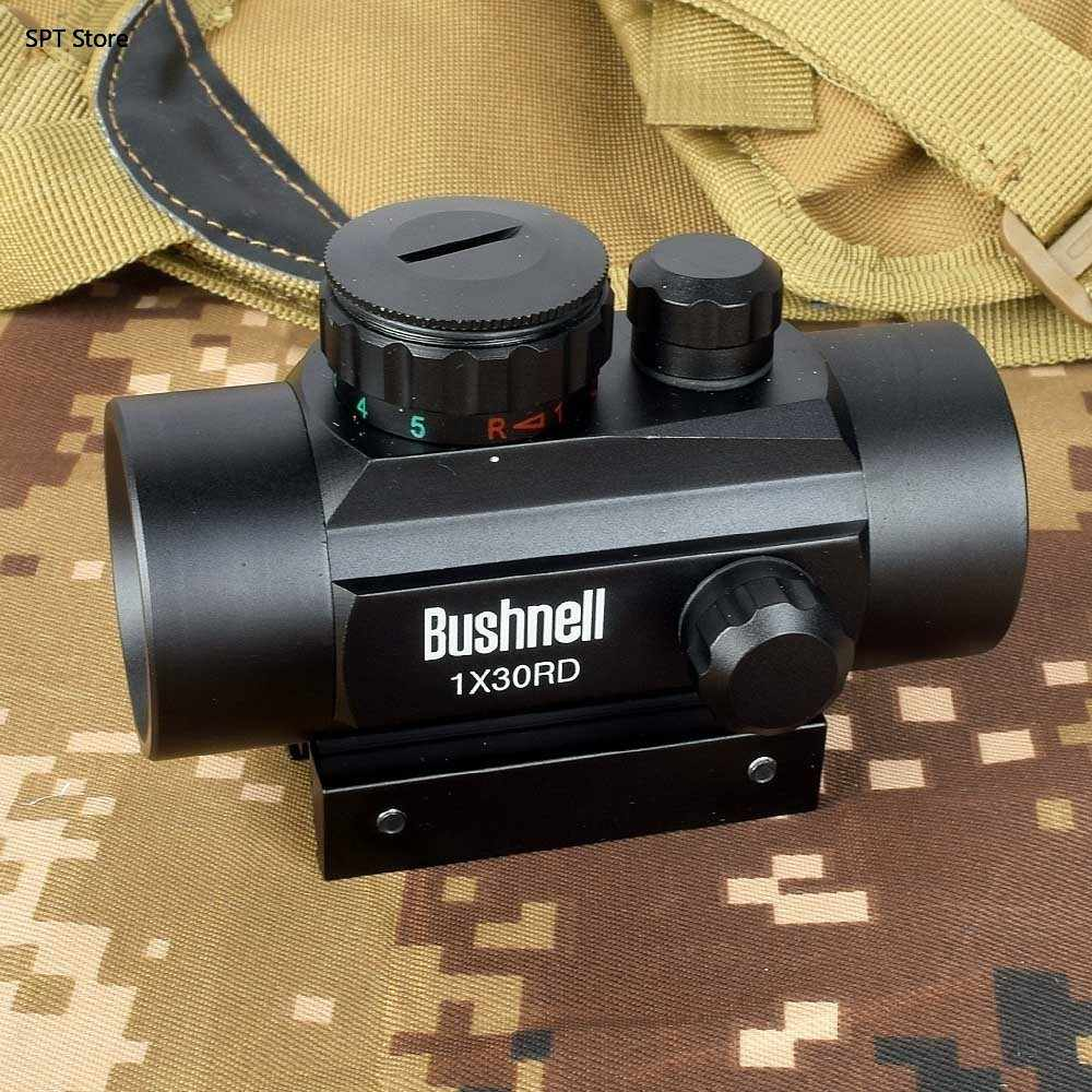 Hologram 1X30 Red Dot Sight Airsoft Merah Hijau Cross Sight Lingkup Berburu Lingkup 11 Mm 20 Mm Rail mount Collimator Pandangan