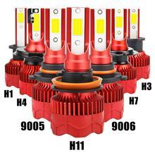 Kit de phares automobiles, ampoules LED, indice de température de couleur 200M, IP68 8000lm 6500K, H1 H3 H4 H7 H11 9005 9006