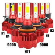 200M Licht Palette IP68 8000lm 6500K Farbe Temperatur LED Scheinwerfer Birne Led-leuchten Auto Scheinwerfer Kit H1 H3 h4 H7 H11 9005 9006