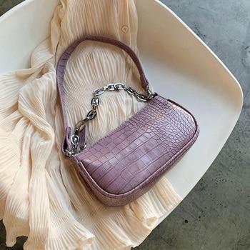 Small PU Leather Shoulder Bags For Women 2020 Elegant Chain Handbags Female Travel Totes Lady Fashion Hand Bag Handbag