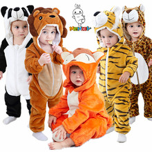 MICHLEY Baby Rompers Winter Animal Costume Newborn Girl Outfit Winter Baby Boy Clothes Toddler Cartoons Jumpsuit Pajama Romper
