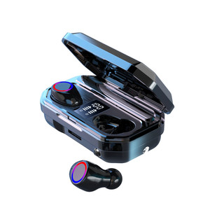 KUGE Wireless Bluetooth Earphone HD Stereo Headphone Sports Headset With Dual Mic and LED Display 2000Ah Battery Charge Case(China)