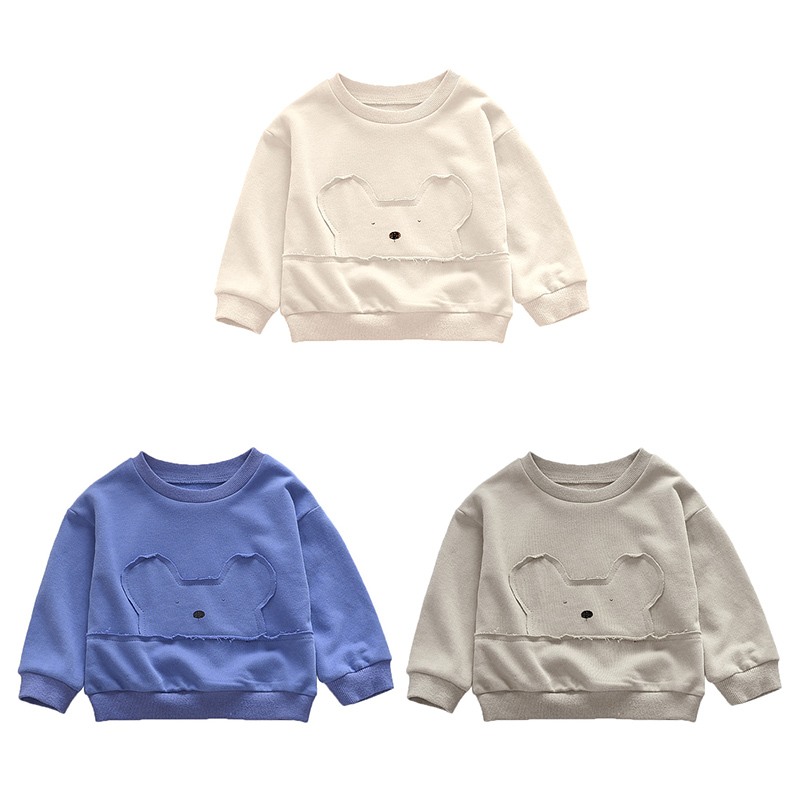 Unisex Baby Cartoon Pattern Sweatshirt Autumn Cotton Long Sleeve Shirt Top 2019