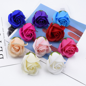 2/5/8 Pieces Soap rose flower wedding decorative flowers wall bridal accessories clearance diy gifts Bride wrist flower material image