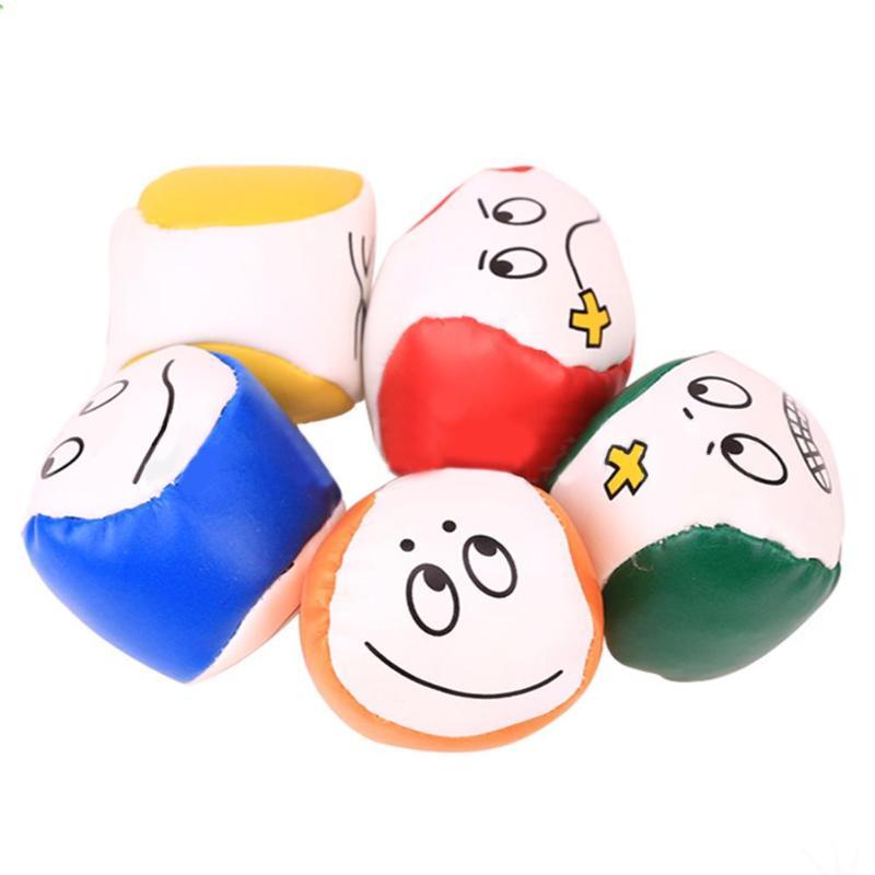 Горячая мяч для жонглирования Классический Нежный мультфильм улыбка лицо жонглирование мяч из искусственной кожи Bean Bag дети интерактивные игры игрушки - Цвет: Type B 1pc Random