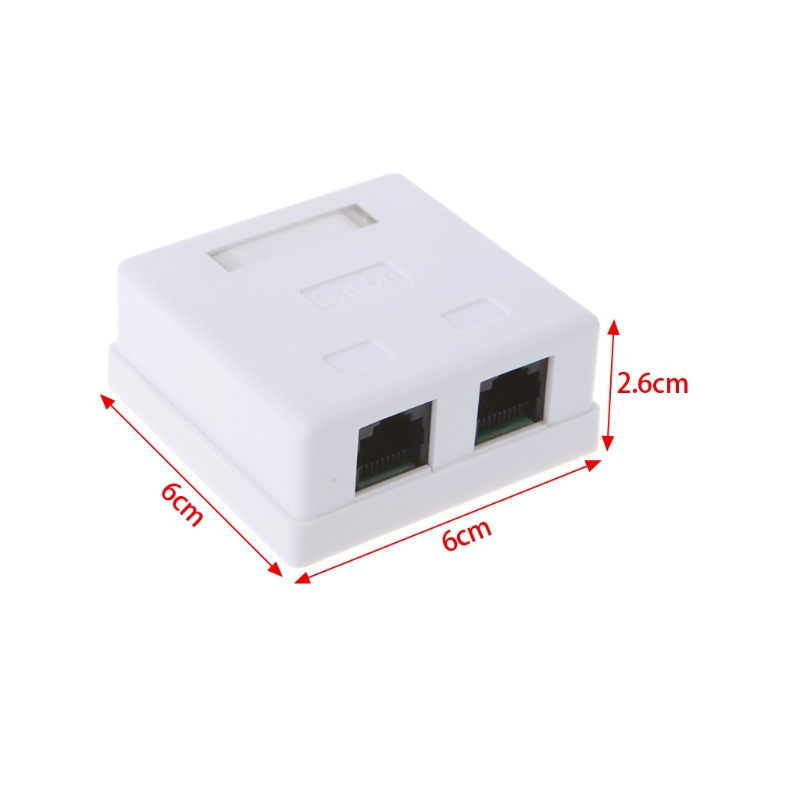 RJ45 Junction Box CAT5e Network Connector 2 Port Desktop Extension Cable Box  M5TB