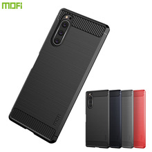 MOFi For Sony Xperia 2 XZ5 Case Luxury Carbon Fiber Anti-drop TPU Soft Cover Cases Back