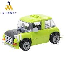 Mr. bean verde mini carro blocos de construção série figuras tijolos modelo educacional tijolos a granel modelo figuras crianças brinquedo