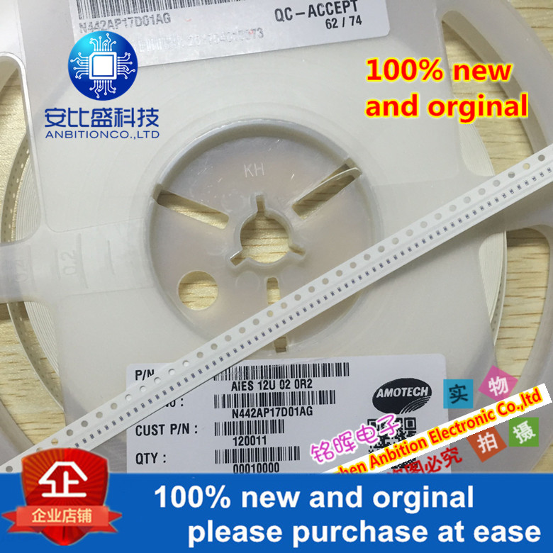 10pcs 100% New And Orginal AIES12U 02 0R2 0402 1005 Patch ESD Tube In Stock