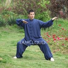 Tai chi uniforme algodão 5 cores de alta qualidade wushu kung fu roupas crianças adultos artes marciais wing chun terno