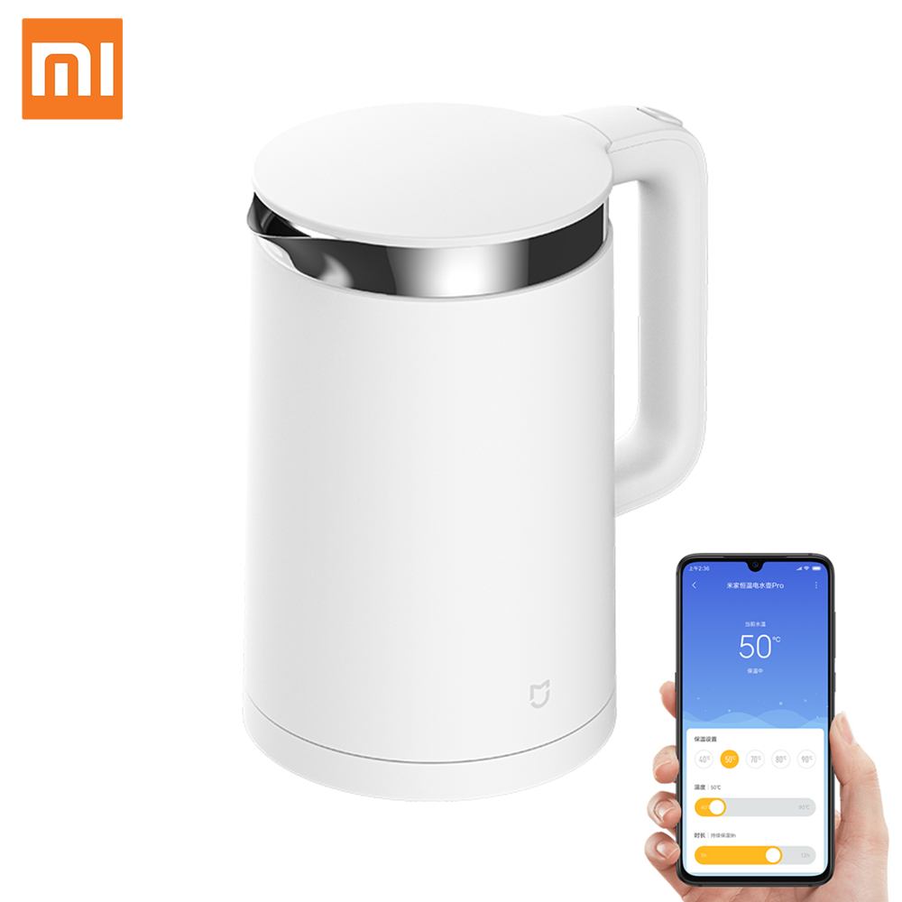 Xiaomi Mijia Electric Kettle Pro Constant Temperature Control Real time Temperature Display Water Kettle 1.5L Work With Mi App|Electric Kettles|   - AliExpress