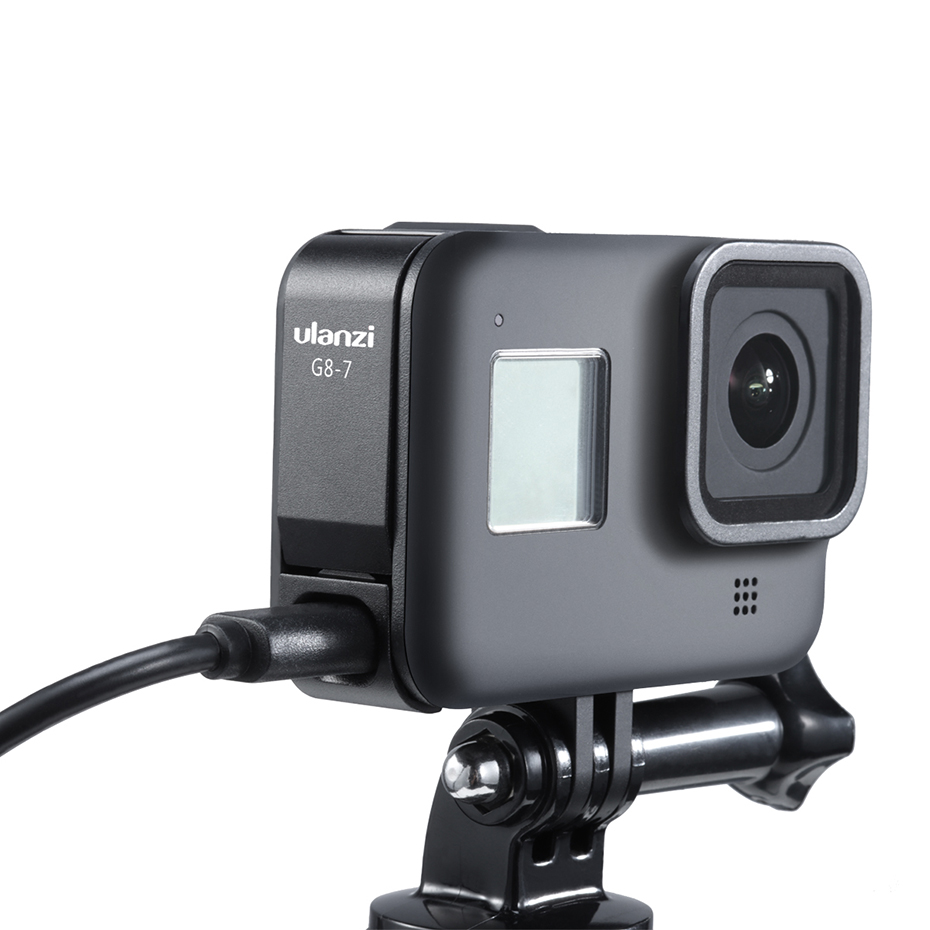 Removable Battery Type C Charging Port Lid+Protective Case For GoPro Hero8 Black