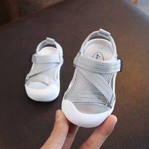 Image 4 - Verão infantil da criança sapatos do bebê meninas meninos da criança sapatos antiderrapante respirável de alta qualidade crianças anti colisão sapatos